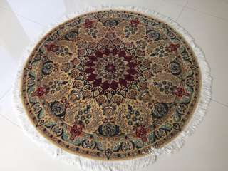 """NAIN carpet -  diameter 54""""/136cm- Just cleaned by Qureshi's"""
