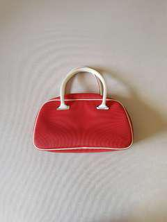 Lacoste Authentic Red &a White Handbag