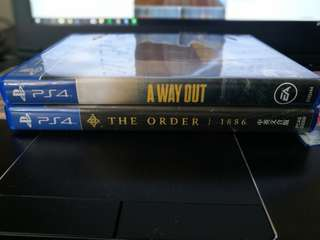 PS4 games a way out and the order 1886