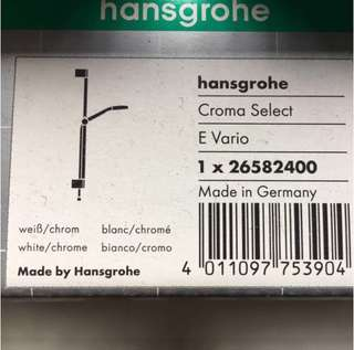 New! Hansgrohe Croma Select Shower set