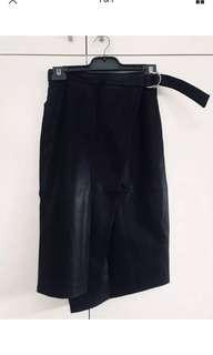 Woman's Sportsgirl Faux leather Wrap Skirt Size XS