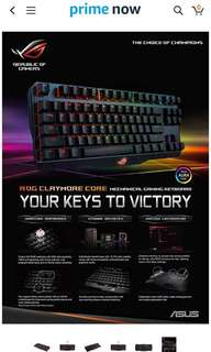 Asus ROG Claymore MX red mechanical keyboard