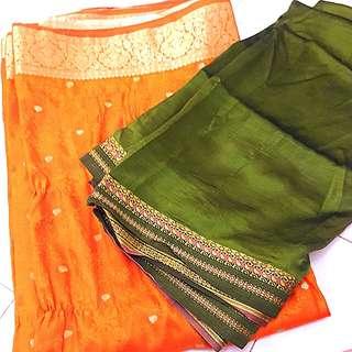 2 sari fabric (Free postage)