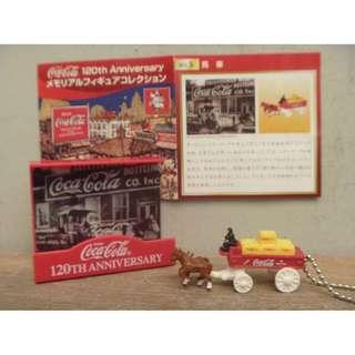 🚚 絕版 2006年cocacola迷你可口可樂 日本限定版 120週年紀念品 早期 仿舊 馬車鑰匙圈 掛鍊 原包裝 老玩具 收藏品