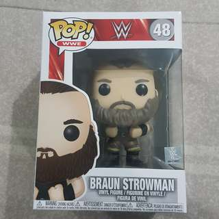 Legit Brand New With Box Funko Pop WWE Braun Strowman Toy Figure
