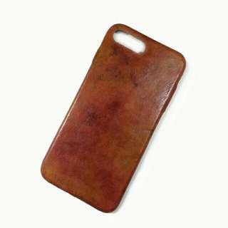 iphone 7 plus 純皮電話殼手機殼手機套 handmade leather phone case cover