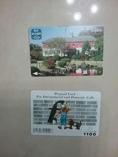 懷舊 日本 電話卡 及 車票 已使用 收藏