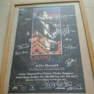 Vintage Rare Fully Sign By Cast Chang And Eng Poster 1999