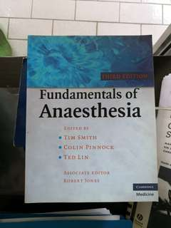 Fundamentals of Anaesthesia by Tim smith