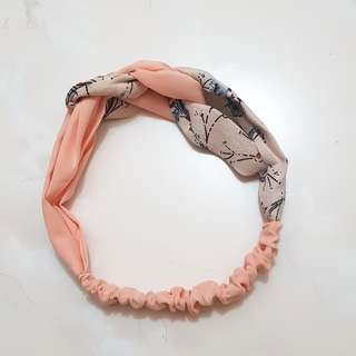 Peach flower headband (NEW)