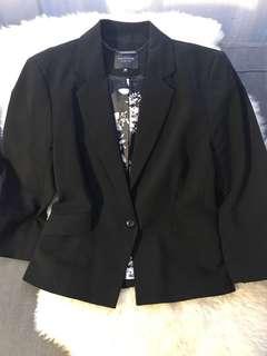 Black skirt suit set