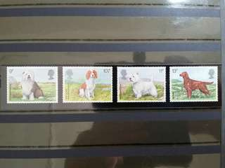 British Royal Mail Mint Stamps: Dogs, 7th Feb 1979, Set of 4 in fine mint condition (Great Britain GB)