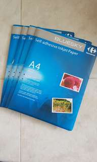 Glossy photo paper / inkjet paper / matte glossy self adhesive