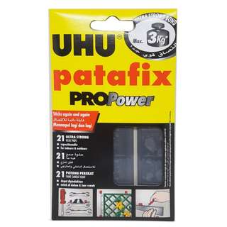 UHU Patafix Propower Black, Removable Adhesive Up To 3KG - UH40790