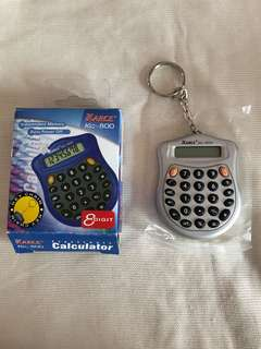 Mini calculator keychain