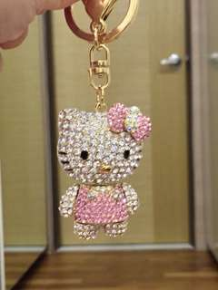 [New] Hello Kitty Crystal Keychain