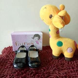 Sepatu Ballerina Anak ( Black Glossy )