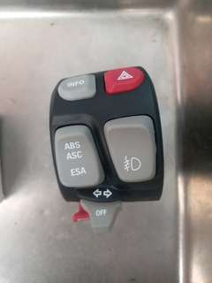 BMW F800GS/GSA Combination Switch Left Hand 2015 > (ABS,ASC & ESA) Part # 61 31 8 550 043