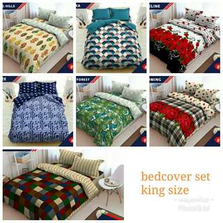 Bedcover set king size dluxe