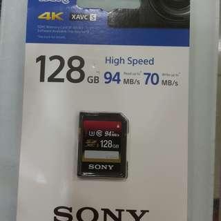 Sony 128GB card USH-I U3
