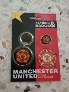Manchester United Keyring &  Badge