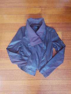 Portmans Grey Faux Leather Jacket