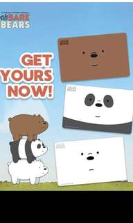 Limited edition brand new We Bare Bears design set of 3 Ezlink cards for $25.90.