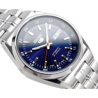 Japan Made Seiko 5 Men's Automatic Day Date Watch SNK563J1