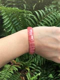 Rhodochrosite bracelet XS