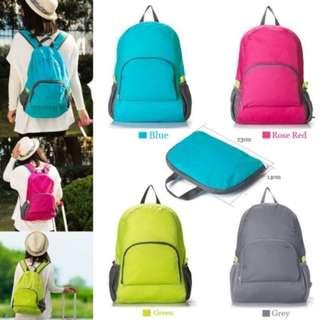 Tas Ransel Lipat ( foldable backpack folding travel bag gym