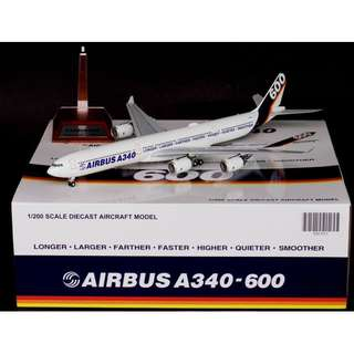 1/200 JC Wings Airbus New House Colours A340-600