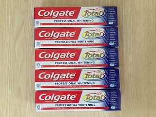 Colgate Total Whitening toothpaste 60g (5pcs)
