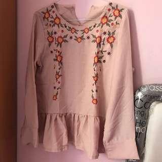 Peach Flower Top