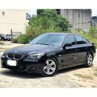 08年式BMW E60 530I 總代理小改款線傳 3.0 尊爵黑