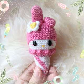 Crochet My Melody Ice Cream Doll