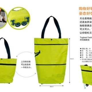 Tas Trolley Lipat ( tas belanja lipat foldable shopping bag folding bag