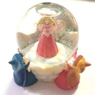 迪士尼 Disney 睡公主 Sleeping Beauty Aurora 水晶球 Snow globe
