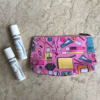 Clinique Makeup Bag with Free Physiogel Creams