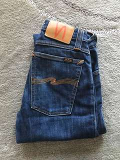 Nudies ladies Long John dark denim skinny jeans