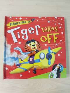 Children's Story & Activity Book - Planet Pop-Up: Tiger Takes Off By Jonathan Litton