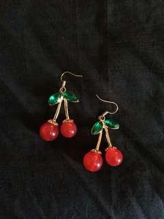 cherry gold earrings *NEW*