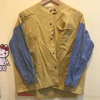 🚚 [全新]拼色襯衫