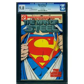 DC Comics The Man of Steel #1 CGC 9.8 Superman John Byrne