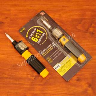 Obeng Bit 360 ( obeng multifungsi tools kit 6 in 1 screwdriver