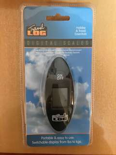 全新輕身易攜電子行李磅 重量秤 旅行出門必備用品 travel log digital portable luggage scales