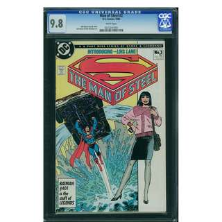 DC Comics The Man of Steel #2 CGC 9.8 Superman John Byrne