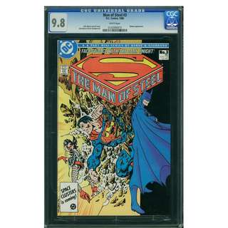 DC Comics The Man of Steel #3 CGC 9.8 Superman John Byrne