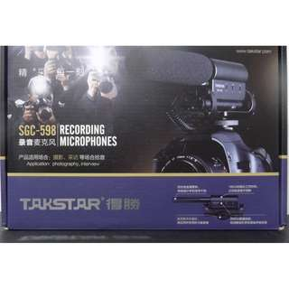 WTS Takstar SGC-598 Recording Microphone For Video Recording Brand New