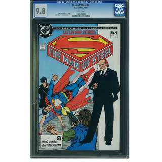 DC Comics The Man of Steel #4 CGC 9.8 Superman John Byrne