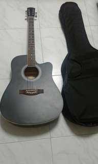 Good Condition Used Fandec Acoustic Guitar With Guitar Bag